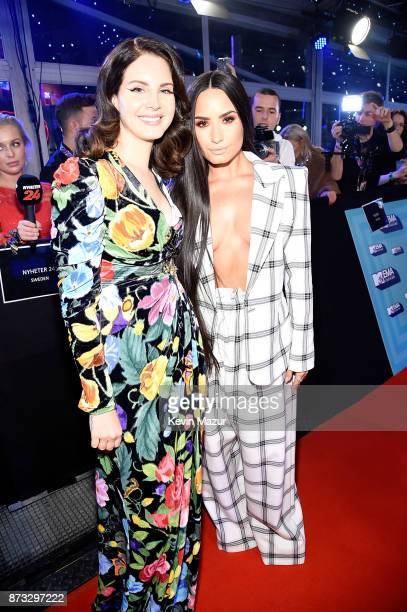 Lana Del Rey and Rita Ora attend the MTV EMAs 2017 held at The SSE Arena Wembley on November 12 2017 in London England