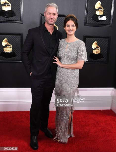 Lana Del Rey and Sean Larkin arrives at the 62nd Annual GRAMMY Awards at Staples Center on January 26, 2020 in Los Angeles, California.