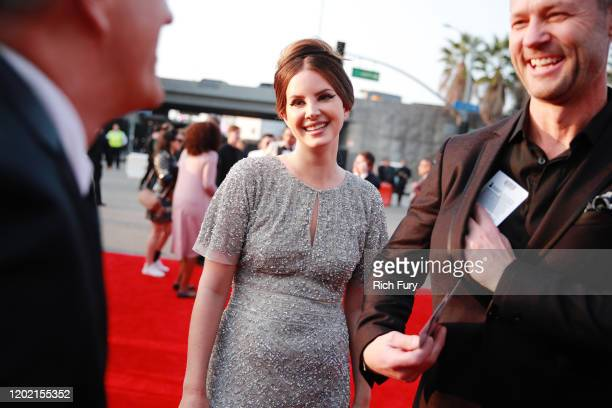 Lana Del Rey and Sean Larkin attend the 62nd Annual GRAMMY Awards at STAPLES Center on January 26 2020 in Los Angeles California