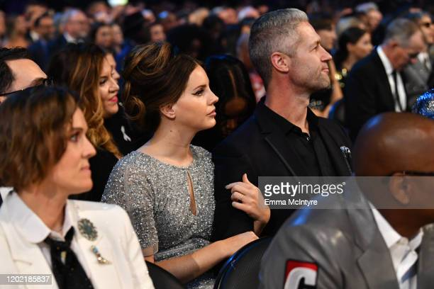 Lana Del Rey and Sean Larkin attend the 62nd Annual GRAMMY Awards at STAPLES Center on January 26, 2020 in Los Angeles, California.