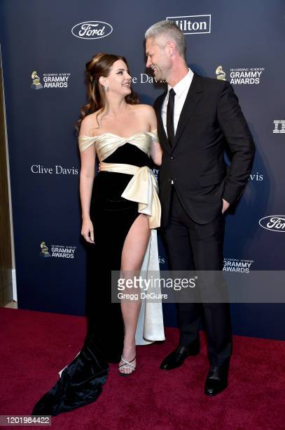 """Lana Del Rey and Sean Larkin attend the Pre-GRAMMY Gala and GRAMMY Salute to Industry Icons Honoring Sean """"Diddy"""" Combs on January 25, 2020 in..."""
