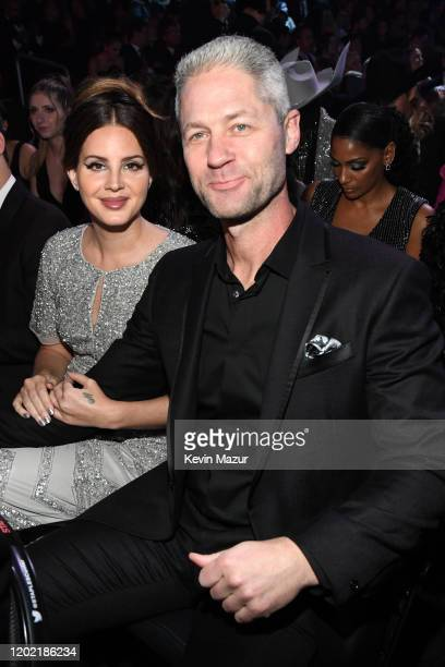 Lana Del Rey and Sean Larkin during the 62nd Annual GRAMMY Awards at STAPLES Center on January 26, 2020 in Los Angeles, California.