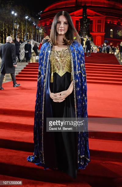 Lana Del Rey arrives at The Fashion Awards 2018 in partnership with Swarovski at the Royal Albert Hall on December 10, 2018 in London, England.