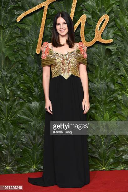 Lana Del Rey arrives at The Fashion Awards 2018 In Partnership With Swarovski at Royal Albert Hall on December 10 2018 in London England