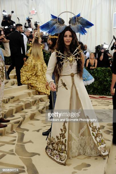 Lana Del Rey attends Heavenly Bodies Fashion The Catholic Imagination Costume Institute Gala a the Metropolitan Museum of Art in New York City