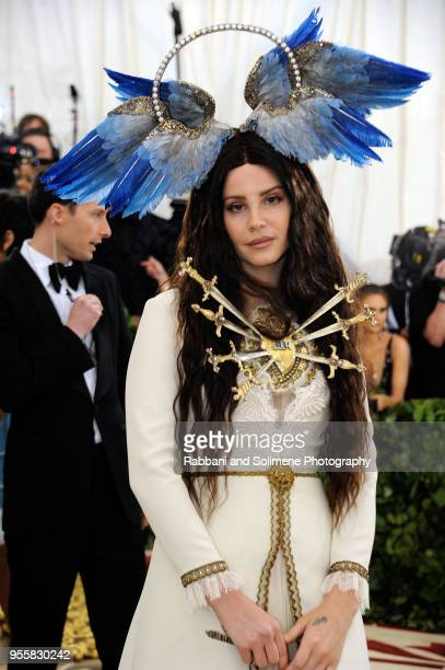 Lana Del Rey attends Heavenly Bodies: Fashion & The Catholic Imagination Costume Institute Gala a the Metropolitan Museum of Art in New York City.
