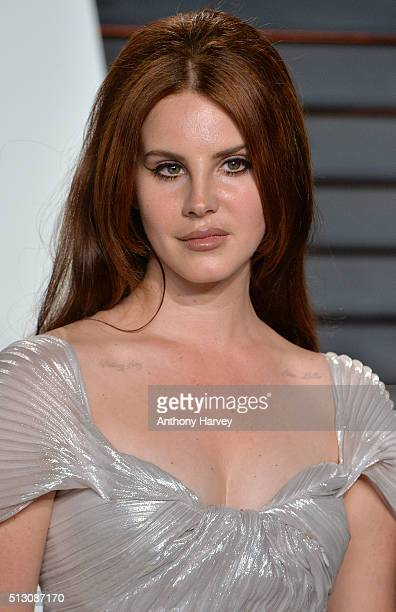 Lana Del Rey attends the 2016 Vanity Fair Oscar Party hosted By Graydon Carter at Wallis Annenberg Center for the Performing Arts on February 28 2016...