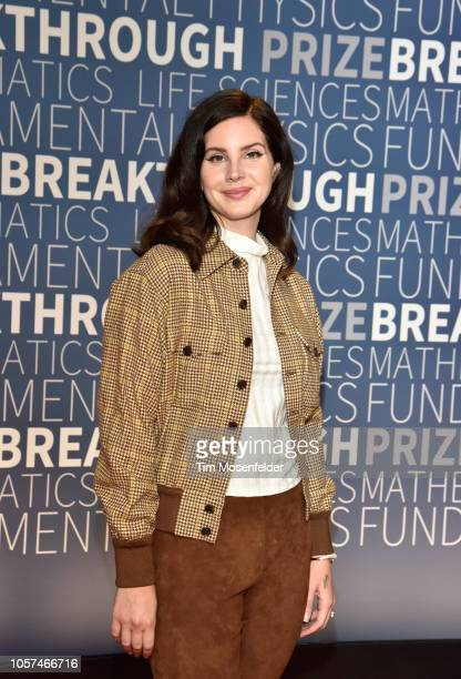 Lana Del Rey attends the 2019 Breakthrough Prize at NASA Ames Research Center on November 4, 2018 in Mountain View, California.