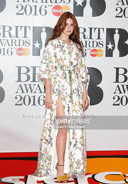 Lana Del Rey attends the BRIT Awards 2016 at The O2 Arena on February 24 2016 in London England