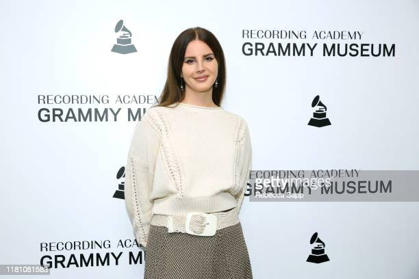 Lana Del Rey attends The Drop Lana Del Rey at the GRAMMY Museum on October 13 2019 in Los Angeles California