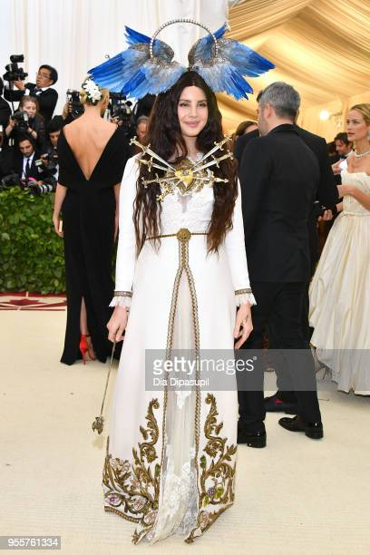 Lana Del Rey attends the Heavenly Bodies Fashion The Catholic Imagination Costume Institute Gala at The Metropolitan Museum of Art on May 7 2018 in...