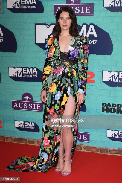 Lana Del Rey attends the MTV EMAs 2017 held at The SSE Arena Wembley on November 12 2017 in London England