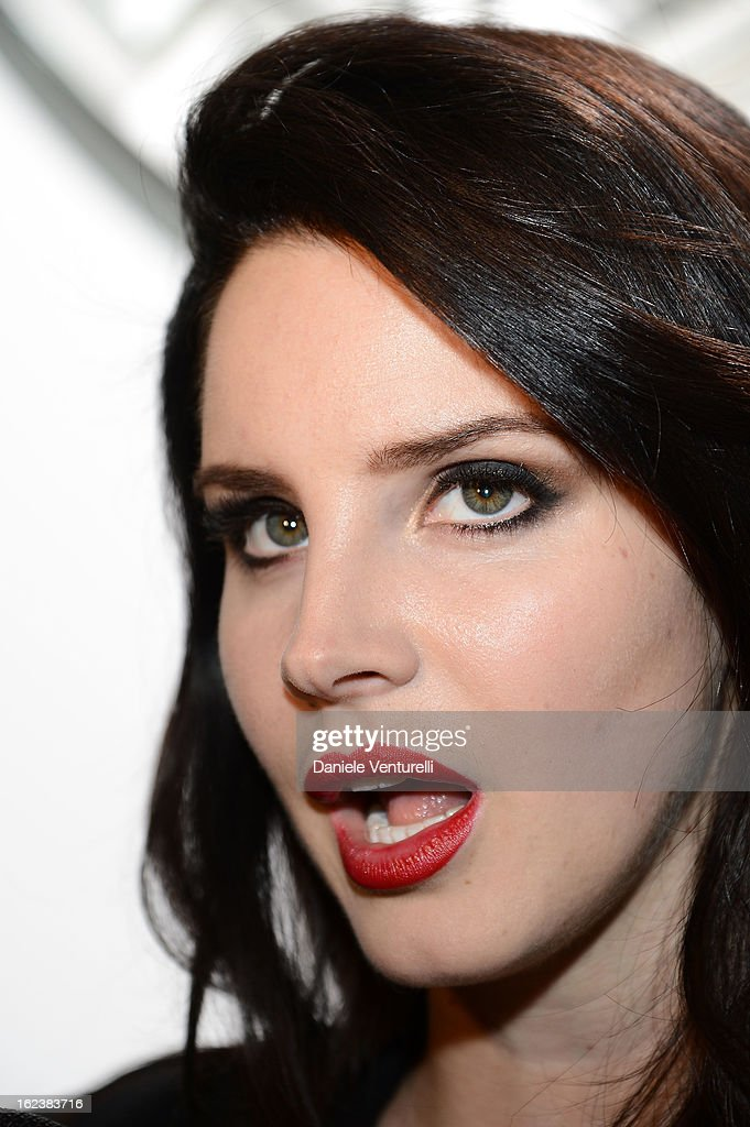 Lana Del Rey attends the Versace fashion show during Milan Fashion Week Womenswear Fall/Winter 2013/14 on February 22, 2013 in Milan, Italy.