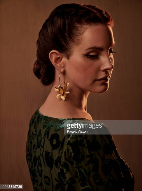 Lana Del Rey is photographed for The Hollywood Reporter on February 9 2019 at the Clive Davis' Grammy Party at the Beverly Hilton in Beverly Hills...