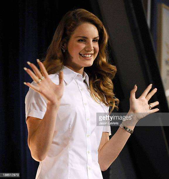 Lana Del Rey performs at Amoeba Music Hollywood to celebrate her debut album 'Born To Die' on February 7 2012 in Hollywood California