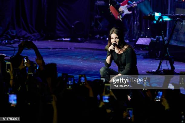 Lana Del Rey performs at O2 Academy Brixton on July 24 2017 in London England