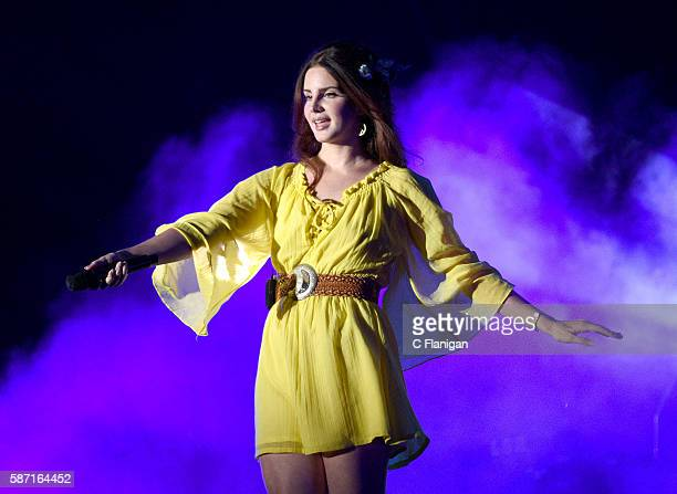 Lana Del Rey performs during the 2016 Outside Lands Music And Arts Festival at Golden Gate Park on August 7 2016 in San Francisco California