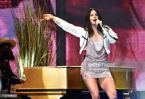 Lana Del Rey performs during the 2019 Buku Music + Art Project at Mardi Gras World on March 22, 2019 in New Orleans, Louisiana.