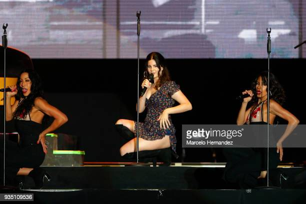 Lana del Rey performs during the third day of Lollapalooza Chile 2018 at Parque O'Higgins on March 18 2018 in Santiago Chile