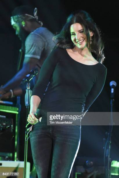 Lana Del Rey performs in support of her 'Lust for Life' release at Bill Graham Civic Auditorium on September 5 2017 in San Francisco California