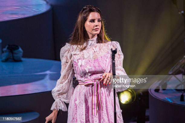 Lana Del Rey performs on stage at Cal Coast Credit Union Open Air Theatre on October 11 2019 in San Diego California