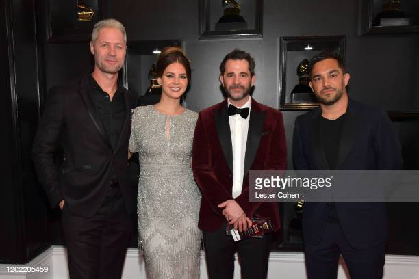 Lana Del Rey, Sean Larkin and guests attend the 62nd Annual GRAMMY Awards at STAPLES Center on January 26, 2020 in Los Angeles, California.