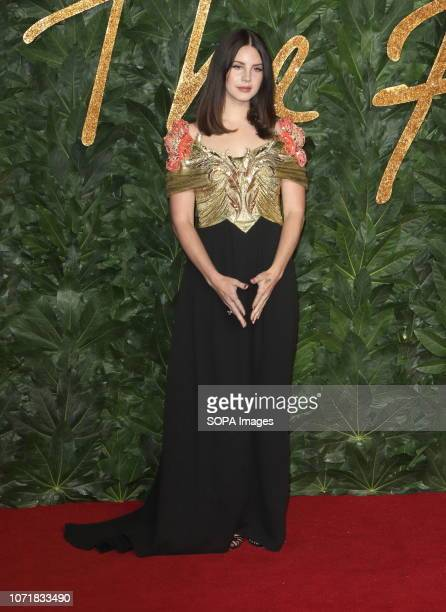 Lana Del Rey seen on the red carpet during the Fashion Awards 2018 at the Royal Albert Hall Kensington in London