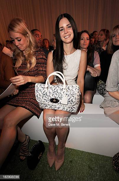 a359438b2bbc Lana Del Rey sits in the front row during the Mulberry Spring Summer 2013  Show