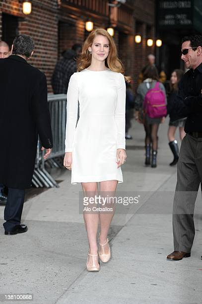 Lana Del Rey visits at Ed Sullivan Theater on February 2, 2012 in New York City.
