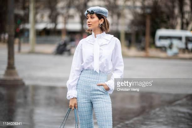 Lana El Sahely is seen outside Chanel during Paris Fashion Week Womenswear Fall/Winter 2019/2020 on March 05 2019 in Paris France