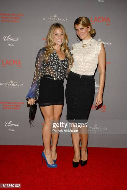 Lana Gomez and Courtney Hansen attend LACMA Resnick Gala AvantGarde After Party Arrivals at Los Angeles County Museum of Art on September 25 2010 in...