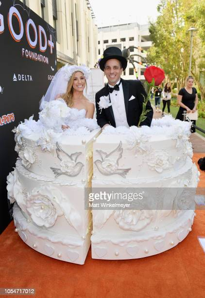 Lana Gomez and Sebastian Maniscalco attend the 2018 GOOD Foundation's 3rd Annual Halloween Bash presented by Delta Air Lines and Otter Pops on...