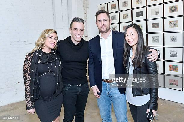 Lana Gomez Sebastian Maniscalco Josh Roth and Sonya Roth attends UTA Artist Space Jake and Dinos Chapman Opening 2017 at UTA Theater on January 28...