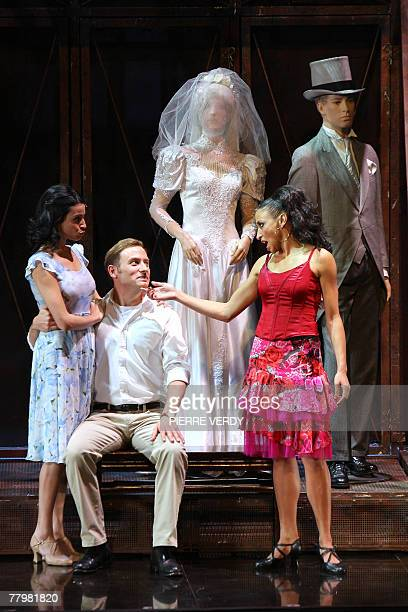 Lana Gordon David Curry and Davinia Rodriguez play Anita Tony and Maria in Leonard Bernstein's musical in two acts West Side Story 19 November 2007...