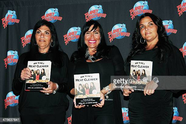 Lana Graziano Renee Graziano and Jennifer Graziano promote How To Use A Meat Cleaver Secrets And Recipes From A Mob Family's Kitchen at Planet...