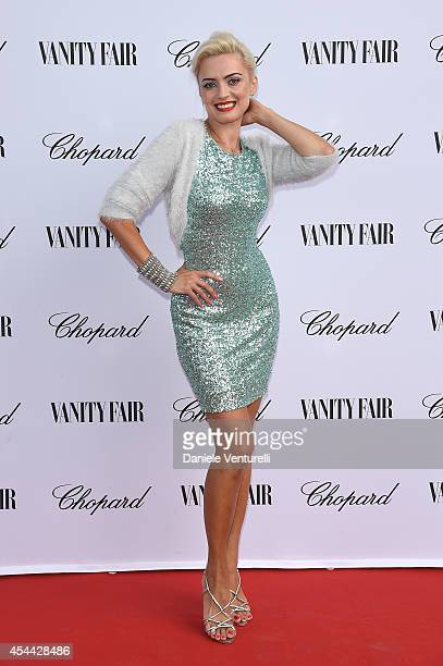 Lana Holloway attends the Chopard And Vanity Fair Present 'Backstage At Cinecitta' Exhibition during the 71st Venice Film Festival at Cipriani Hotel...