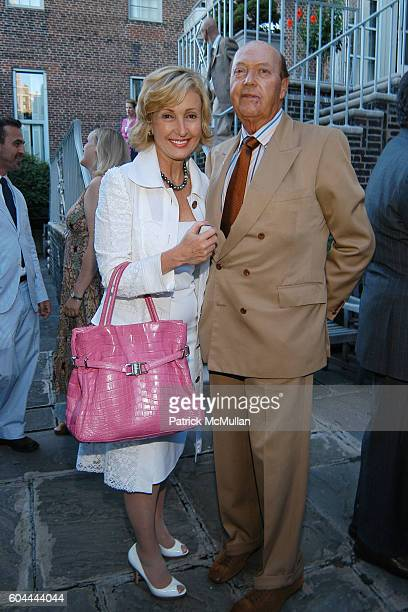 Lana Marks and Parker Ladd attend CFDA New Members Party at Arnold Scaasi Residence on August 16 2006 in New York City