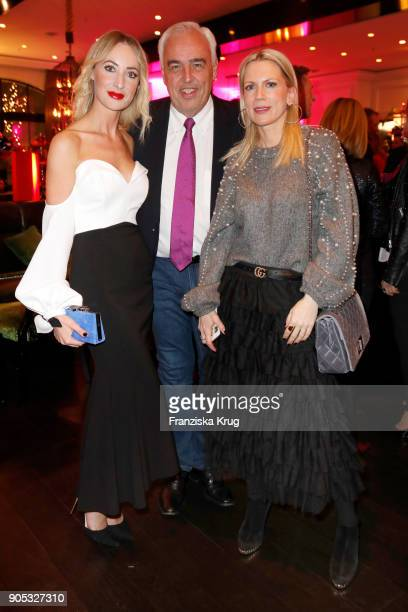 Lana Mueller HansReiner Schroeder Director BMW Berlin and Tamara von Nayhauss during the Bunte New Faces Night at Grace Hotel Zoo on January 15 2018...