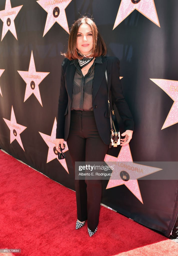 Lana Parrilla attends Eva Longoria's Hollywood Star Ceremony Post-Luncheon on April 16, 2018 in Beverly Hills, California.