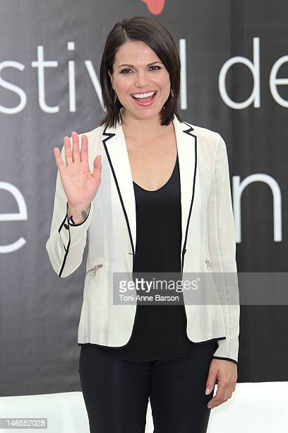 Lana Parrilla attends 'Once Upon A Time' Photocall at Grimaldi Forum during the 52nd Monte Carlo TV Festival on June 12 2012 in MonteCarlo Monaco