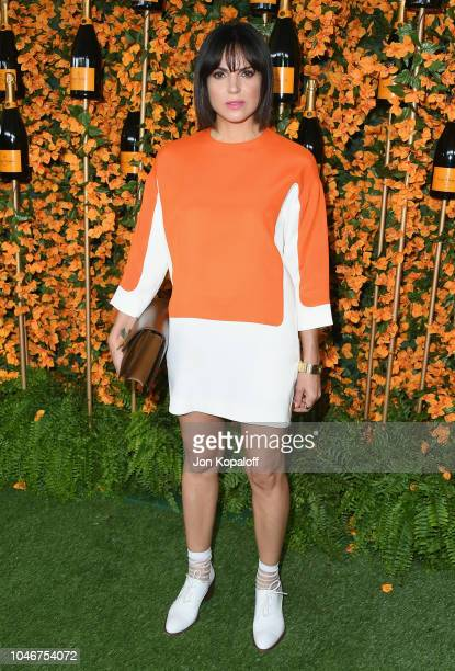 Lana Parrilla attends the 9th Annual Veuve Clicquot Polo Classic Los Angeles at Will Rogers State Historic Park on October 6 2018 in Pacific...