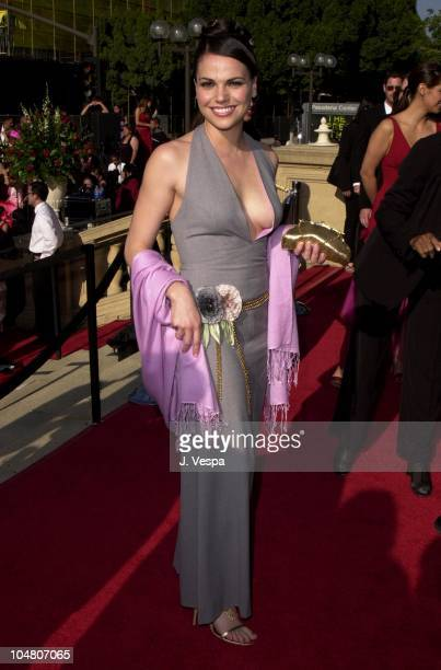 Lana Parrilla during The 2001 ALMA Awards Arrivals at Pasadena Civic Auditorium in Pasadena California United States