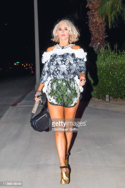 J 'Lana' Perry is seen on April 12 2019 in Indio California