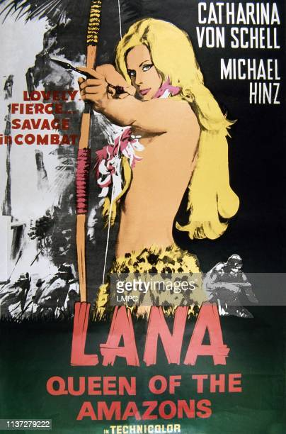 Lana Queen Of The Amazons poster poster Catherina von Schell 1964