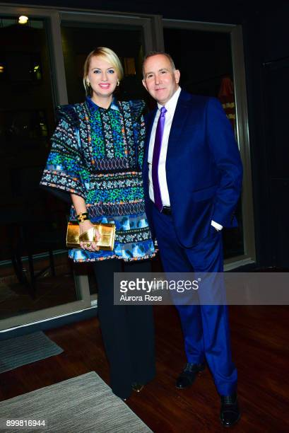 Lana Smith and Dionisio Fontana attend Tracy Stern hosts holiday party at private townhouse in Hell's Kitchen at Private Residence on December 14...