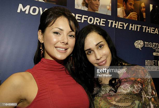 Lana Tailor host of the HDNet show Get Out and Octomom Nadya Suleman a guest on the HDNet show Celebridate attend the Cable Show 2011 at McCormick...