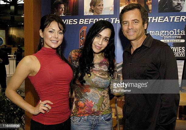 Lana Tailor host of the HDNet show Get Out Octomom Nadya Suleman a guest on the HDNet show Celebridate and Celebridate host Roger Lodge attend the...