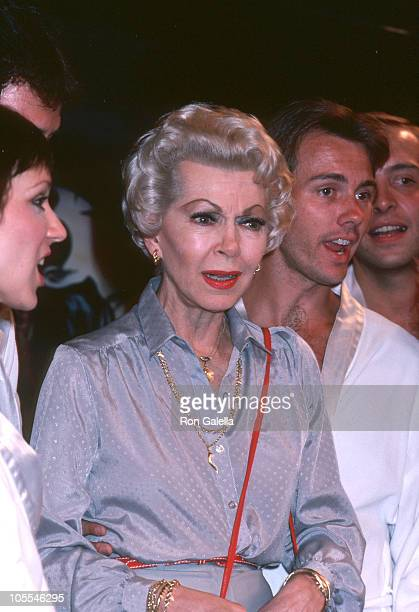 Lana Turner and guest during Oh Calcutta Party July 11 1980 at Edison Theater in New York City New York United States