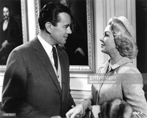 Lana Turner and John Forsythe in a scene from the Universal Pictures drama 'Madame X'