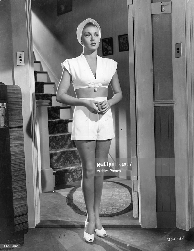 Lana Turner at doorway in a scene from the film 'The Postman Always Rings Twice', 1946.